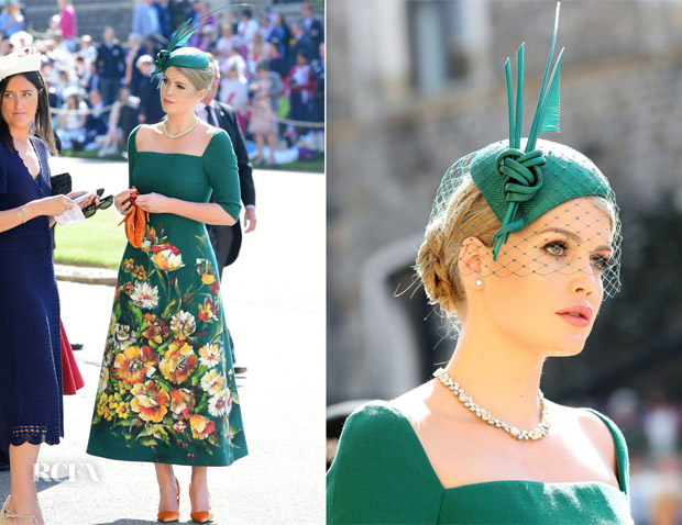 Lady-Kitty-Spencer-In-Dolce-Gabbana-Alta-Moda-Prince-Harry-Meghan-Markle_s-Royal-Wedding